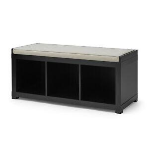3 Cube Storage Organizer Storage Bench Bookcase Living Room Hallways Solid Black