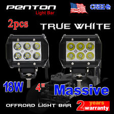 "2X 4"" 18W Spot Beam LED Light Bar ATV UTE Truck Lamp Offroad Fog Jeep Car CREE"