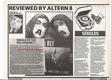 KLF America - What Time Is Love 1992 single review UK ARTICLE / clipping