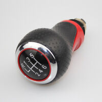 Sport Gear Shift Knob For Audi S3 S4 A3 A4 A6 Perforated 6 speed Motion Red