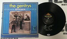 Jimmy Hart Signed The Gentrys Keep on Dancing Album Vinyl Record Psa/Dna Wwe '65