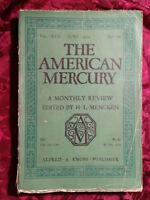AMERICAN MERCURY June 1929 JAMES M CAIN L. UNTERMEYER +