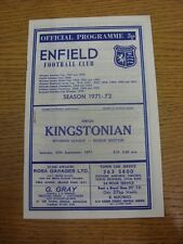 25/09/1971 Enfield v Kingstonian  (Small Rusty Mark, Neat Team Changes).  This i
