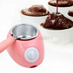 Pink Chocolate Melting Pot Electric Fondue Melter Machine Set DIY Kitche