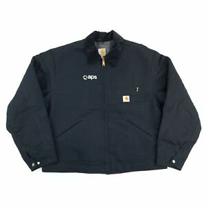 Vintage Carhartt Blanket Lined Jacket Black XL Made in USA