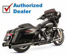 S&S Black Thruster El Dorado MK45 Exhaust Pipes Mufflers Harley 17-18 Touring