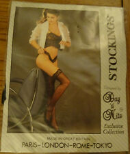 Day 'n' Nite Lace Top Hold Up Stockings One Size Black
