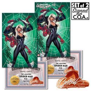 Amazing Spider-Man #10 J Scott Campbell Exclusive Set Signed w/COA NM+
