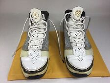Nike Air Jordan XX3 23 White/Stealth-Black-Metallic Gold 318376-102 Retro SZ 9