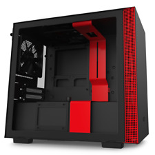 NZXT H210 Black/Red Mini-ITX Tower Case Tempered Glass Desktop Computer Case