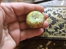 "Vintage Italian Miniature Alabaster Marble Stone Apple Small 1 1/4"" In Size"