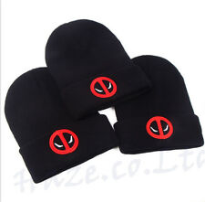 2a4ce8e23ca Deadpool Anime Black Beanie Hat Snowboard Ski Winter Knit Cap Unisex