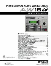 Yamaha AW16G Digital Audio Workstation Service Manual and Repair Guide
