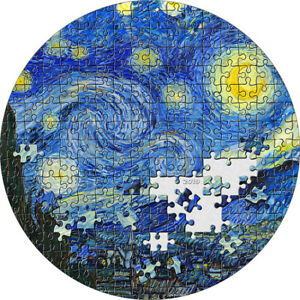 Micropuzzle Treasures Starry Night Van Gogh Palau 2019 3 Oz 20$ SIlver coin