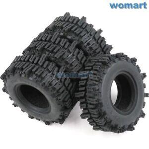"4pc RC 1.9"" Mud Slingers Crawler Tires 93mm Fit RC 1.9 Beadlock Rims"