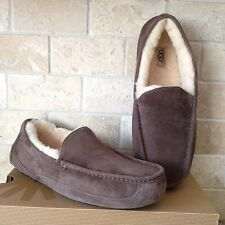 UGG ASCOT ESPRESSO SUEDE / SHEEPSKIN SLIPPERS MOCCASIN US 10 MENS 5775