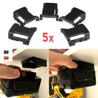 5Pcs Battery Mounts For MILWAUKEE M18 18V Storage Holder Shelf Rack Stand Slots