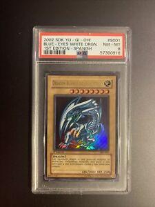 Yu-Gi-Oh! 2002 Blue Eyes White Dragon Spanish SDK-001 1st Edition PSA 8 High End