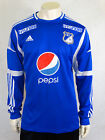 Millonarios Home Football Shirt Jersey Trikot 2012 Adidas L Long Sleeve