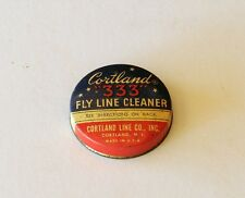 Vintage empty Tin Cortland 333 Fly Fishing Line Cleaner