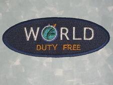 "World Duty Free Patch - 4"" x 1 1/2"""