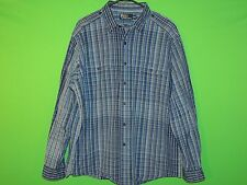 Polo Ralph Lauren Men's Size XL Extra Large Blue Plaid Long Slv Button Shirt