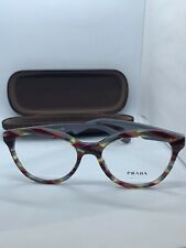 NEW PRADA VPR 11R VAP-1O1 BURGUNDY WOMEN'S AUTHENTIC EYEGLASSES FRAME 52-17 FAST