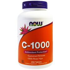 Now Foods, C-1000 with Rose Hips & Bioflavonoids, Vitamin C 1000mg x 250tabs