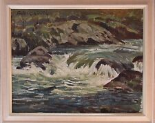 FREDERIC WHITING RP RSW 1874-1922 ORIGINAL SIGNED OIL ON CANVAS 'RIVER RAPIDS'