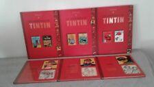 HERGE - LES AVENTURES DE TINTIN  3 ALBUMS DOUBLES + TCHANG + HADDOCK + TOURNESOL