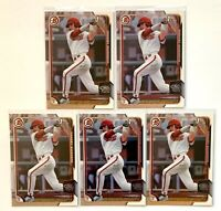 (5) DANSBY SWANSON 2015 Bowman Draft #1 Rookie 1st Bowman RC Atlanta Braves LOT