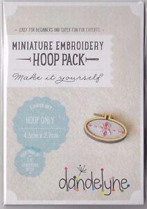 SALE Miniature Embroidery Hoop Pack C - Single Horizontal Oval Hoop - 45 x 27 mm