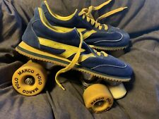 Vintage Marco Polo Roller Skates Mens Size 8 Blue/yellow