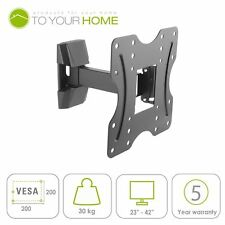 "Swivel Support Mural Inclinable pour 23 26 32 40 42"" TV LCD DEL 3D VESA 100-200 mm"