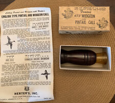 Vintage Herter's Widgeon And Pintail Call No. 473 In Original Box w/ pamphlet