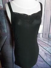 """""""MAURICES"""" Tank Top, Small, Black, Black Lace, Ruching, Rayon, DESIGNER"""