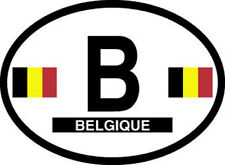 belgium oval vinyl sticker decal bumper country flag car vehicle