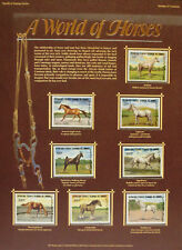 A World of Horses Stamps from Comoros Stamp Poster