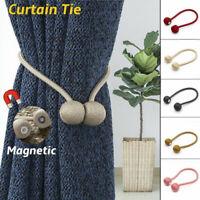 1pc Magnetic Curtain Hooks Rope Buckle Tie Backs Holdbacks Home Window Decor