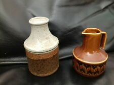 vintage pottery. Iden, Rye also Hornsea 1977 brown heirloom