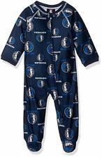 Nba Infant Mavericks Sleepwear All Over Print Zip Up Coverall, Navy, Size 12M