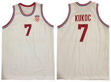 TONI KUKOC CROATIA OLYMPICS RETRO BASKETBALL JERSEY LARGE 46