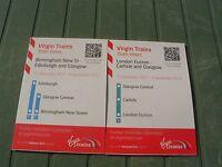 Virgin Trains  Railway Timetables  Dec 2011-Sep 2012
