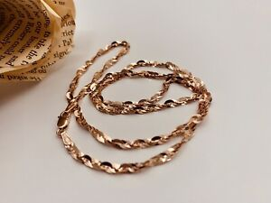 Michael Anthony 10k Rose Gold Sparkle Cleo Necklace 18 inches