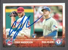 2015 TOPPS US 52  Cody Anderson  RC  CLEVELAND INDIANS SIGNED AUTOGRAPH AUTO COA