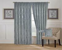 Las Vegas Grey Fully Lined Pencil Pleat Luxury Jacquard Ready Made Heavy Curtain