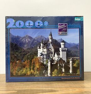 New Buffalo Games Neuschwanstein Castle Bavaria 2000 Piece Puzzle + Poster 38x26