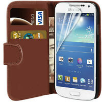 HIGH QUALITY FLIP LEATHER WALLET COVER CASE  FOR SAMSUNG GALAXY S4 & S4 MINI