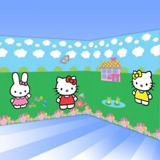 Hello Kitty Adorable Scene Setter Giant Birthday Party Decorating Kit