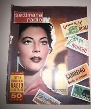 SETTIMANA RADIO TV #Settimanale-Anno II - N.5 # 30 Gen./5 Feb. 1955 #Ava Gardner